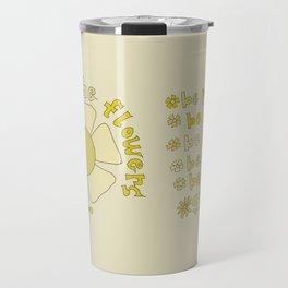 ways of the flowers // retro art by surfy birdy Travel Mug