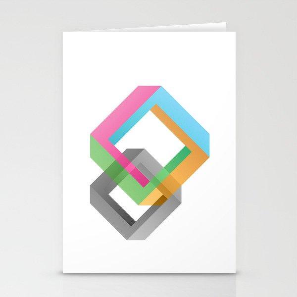 Penrose Diamonds Stationery Cards