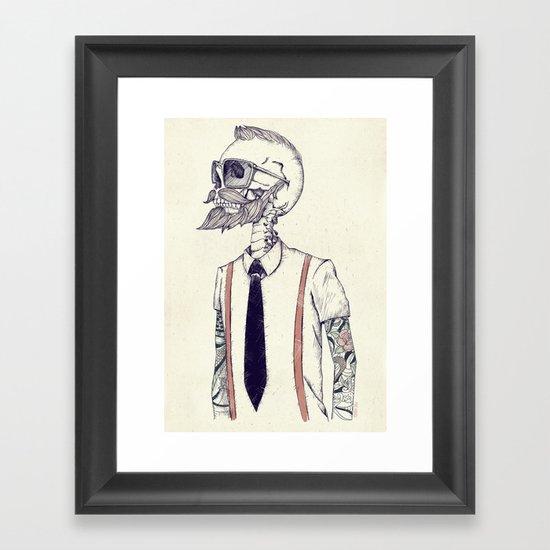 The Gentleman becomes a Hipster  Framed Art Print