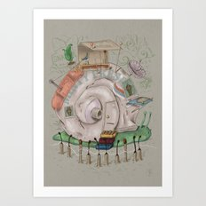 One man's trash - Snailer Park Art Print
