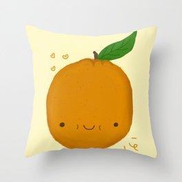 Kawaii Orange Throw Pillow