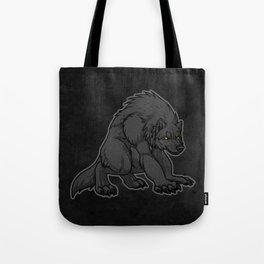 Crouching Werewolf Tote Bag