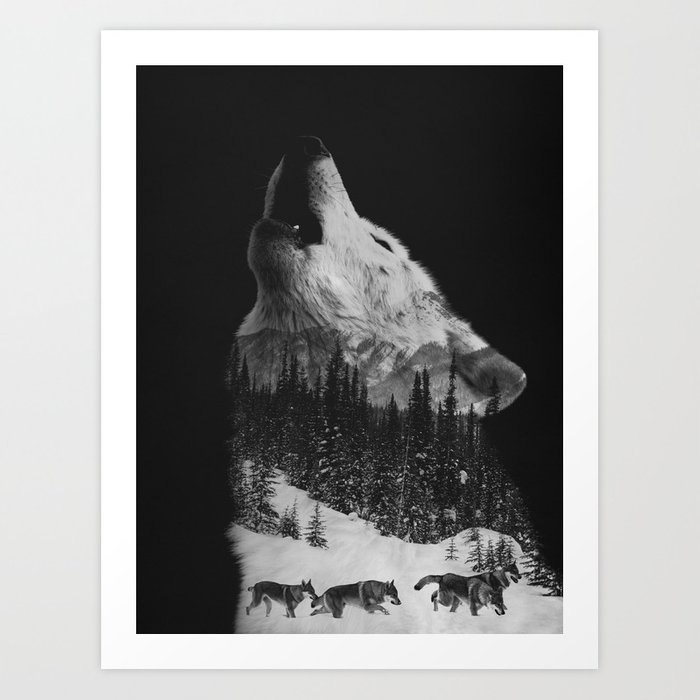 Discover the motif HOWLING WOLF by Andreas Lie as a print at TOPPOSTER