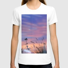 LOOK OUTSIDE - Flowers & Sunset #1 #art #society6 T-shirt