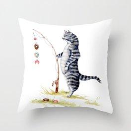 Gone Fish'en Throw Pillow