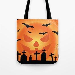 Halloween Scene Graveyard Tote Bag