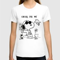 "snoopy T-shirts featuring Snoopy ""Chicks Dig Me"" by Blue Orchid Photography"