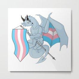 Pride Dragons - Transgender Flag Metal Print