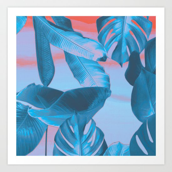 Electric blue botanics (everyday 8/365) Art Print