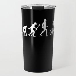 Evolution + Mountain Biking Cycling Gift Travel Mug