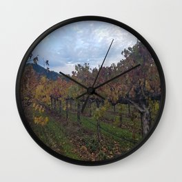 Vineyard in Autumn Wall Clock
