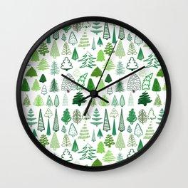 holiday trees! Wall Clock