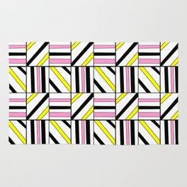 symetric tartan and gingham 2 -vichy, gingham,strip,square,geometric, sober,tartan Rug