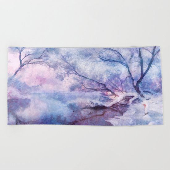 Winter fairy tale Beach Towel