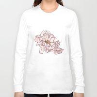 peony Long Sleeve T-shirts featuring Peony by rusanovska