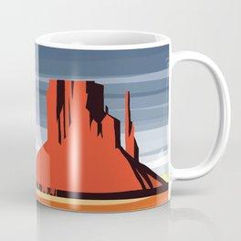 Monument Valley sunset magic realisim Coffee Mug