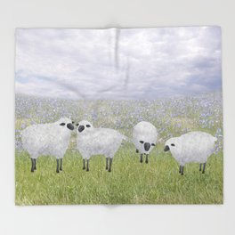 sheep and chicory Throw Blanket