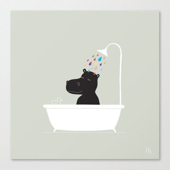 The Happy Shower Canvas Print