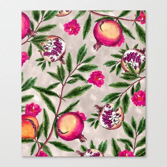 Pomegranate Pattern #society6 #decor #buyart Canvas Print