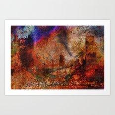 Le soir de la city Art Print
