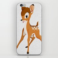 bambi iPhone & iPod Skins featuring Bambi by MandiMccl