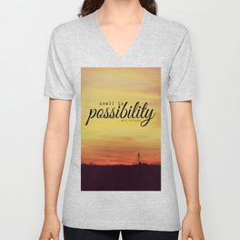 Dwell in Possibility Emily Dickinson Unisex V-Neck