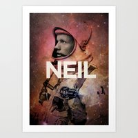young avengers Art Prints featuring Neil. by David
