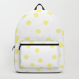 Simply Dots in Pastel Yellow Backpack