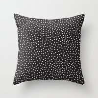 dots Throw Pillows featuring Dots by Priscila Peress