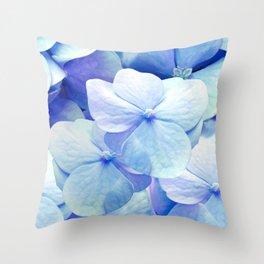 Bliss, Blue Hydrangea Throw Pillow