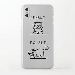 Inhale Exhale English Bulldog Clear iPhone Case
