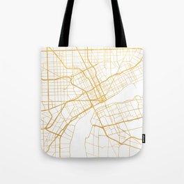 DETROIT MICHIGAN CITY STREET MAP ART Tote Bag