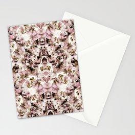 Sweet Pea Petals Half Kaleidoscope Photographic Pattern Stationery Cards