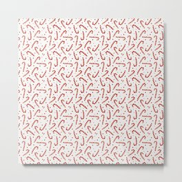 Candy Cane Christmas Metal Print
