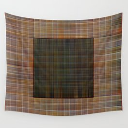 Patched plaid tiles pattern Wall Tapestry