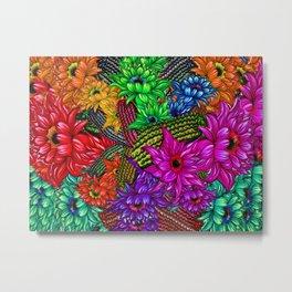 """Cacti Floral Madness"" Metal Print"
