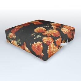 Orange Flowers Outdoor Floor Cushion