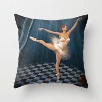 ballerina Throw Pillows featuring ballerina by Ancello