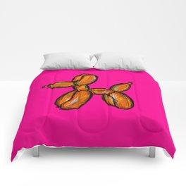 Doggy - orange & pink Comforters