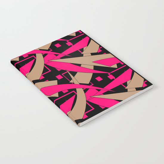 Creative abstract pattern . Geometric shapes .4 Notebook