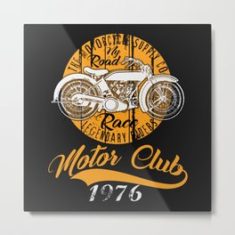 THE MOTORCYCLE SUPPLY co - MOTOR CLUB by ANIMOX Metal Print