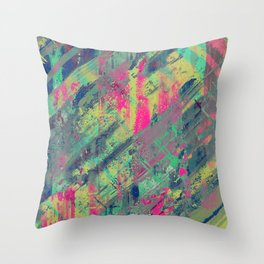 Colour Relaxation - Abstract, textured oil painting Throw Pillow