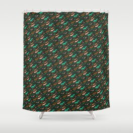 Yooper Christmas, Hunter's Colors Shower Curtain
