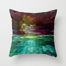 Sunset Burst Throw Pillow