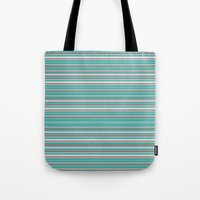 striped Tote Bags featuring Striped by Marika's Artworks