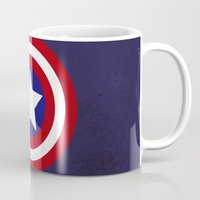 "steve rogers Mugs featuring Captain ""Steve Rogers"" America by Some_Designs"