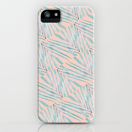 Palm Leaves Coral iPhone Case
