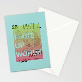 Make Up Words Stationery Cards
