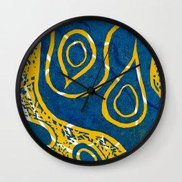 Linocut Print_1 Wall Clock