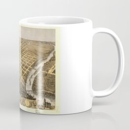 Bird's Eye View of Topeka, Kansas (1869) Coffee Mug